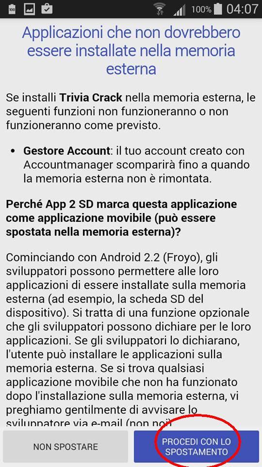 Come spostare App Android sulla scheda SD