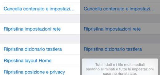 Come formattare o ripristinare un iPhone senza iTunes