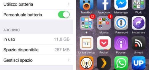 Come vedere la percentuale della batteria su iPhone