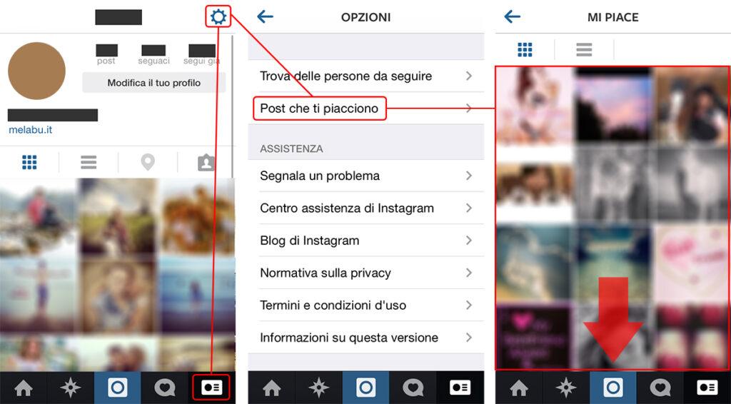 Come vedere le foto a cui ho messo mi piace su instagram for Scopri chi visita il tuo profilo instagram