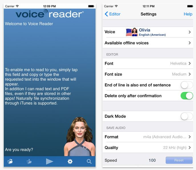 App iPhone che legge messaggi