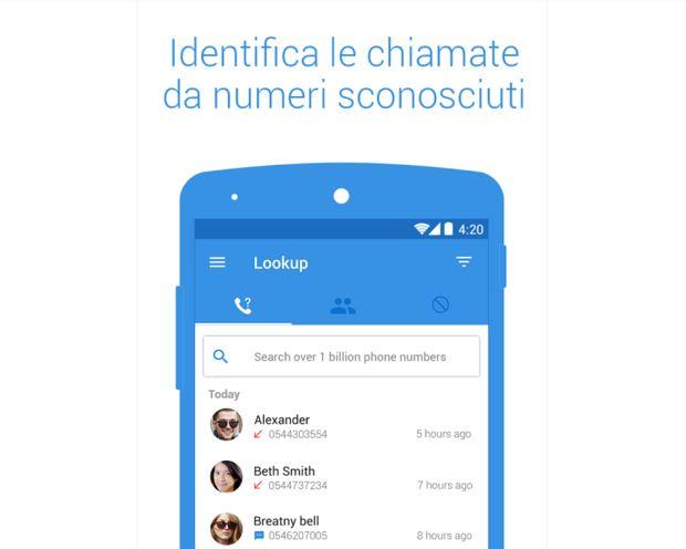 applicazione android che dice il nome di chi chiama