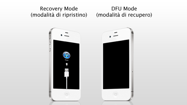 Come mettere l'iPhone in Recovery Mode e DFU