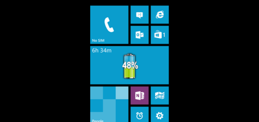 Visualizzare percentuale batteria Windows Phone