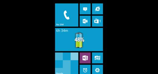 Visualizzare percentuale batteria Windows Phone