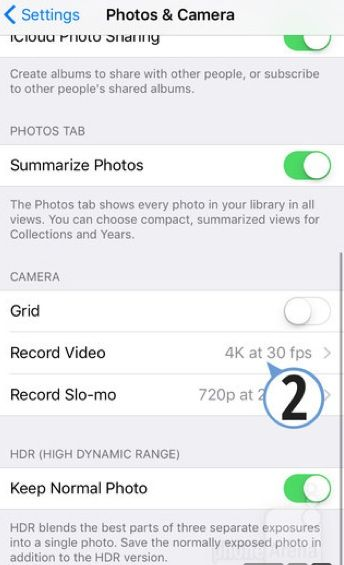 Come fare video 4K iPhone 6S