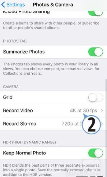 Come fare video 4K iPhone 6S