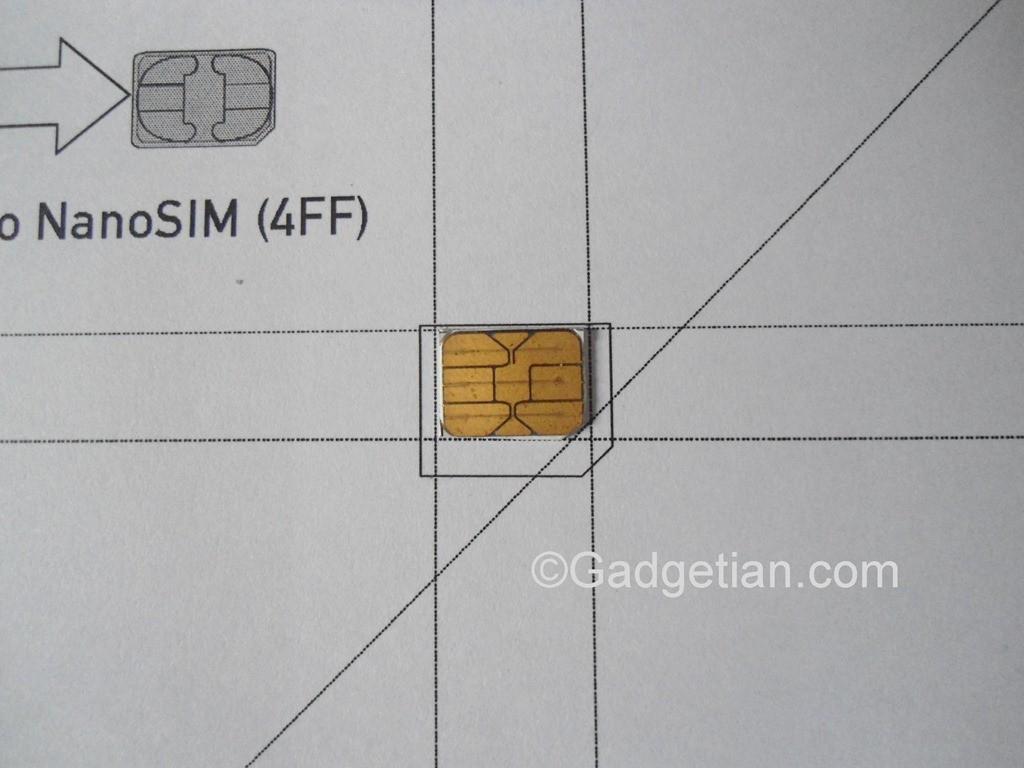 Tagliare da SIM o Micro SIM a Nano Sim