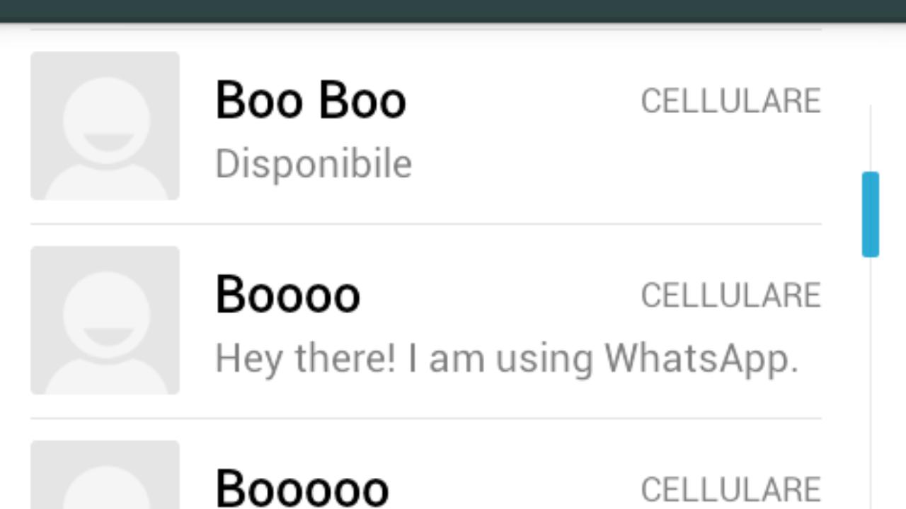 contatti di collegamento WhatsApp