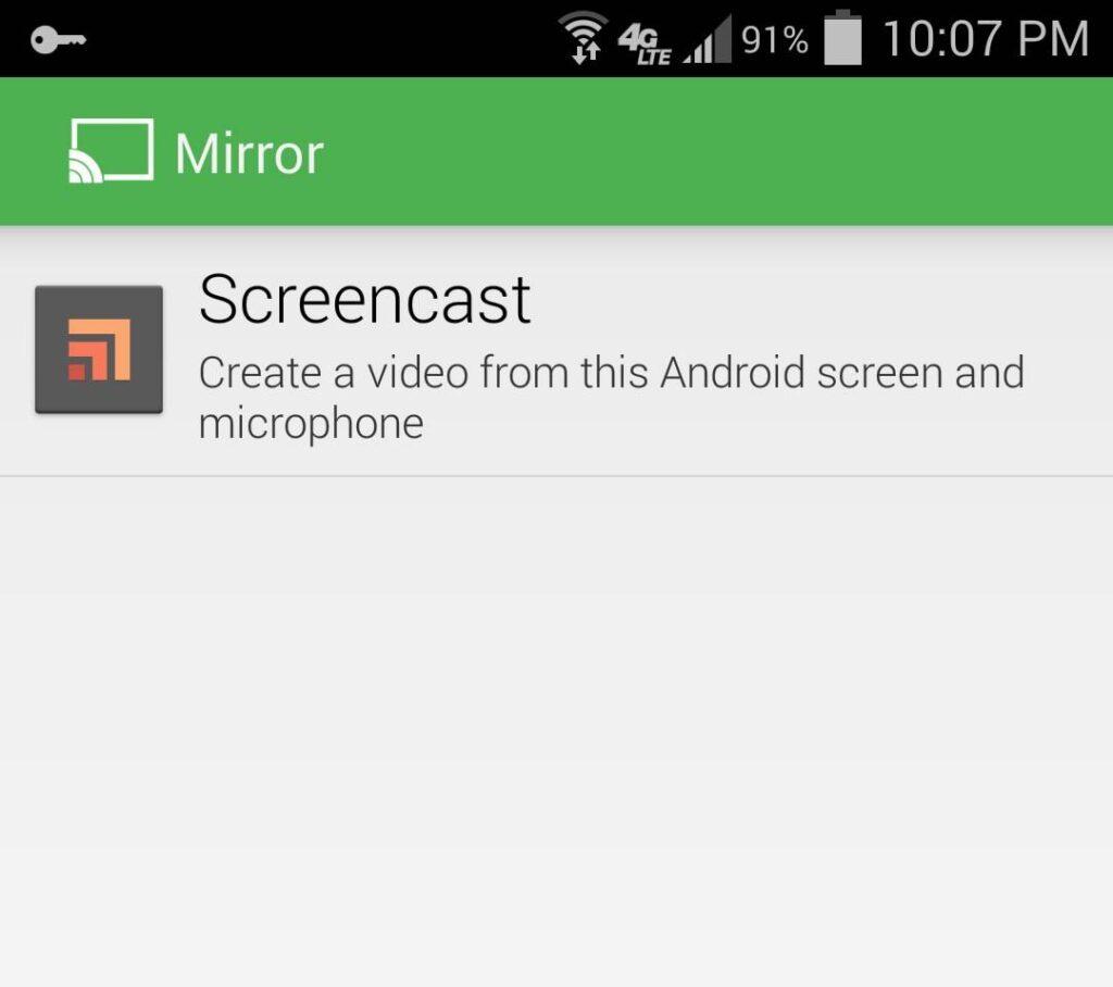 Registrare lo schermo su Android senza root
