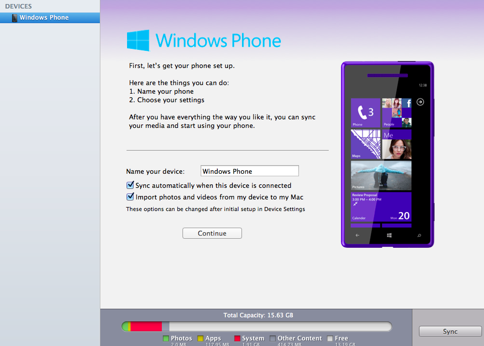 Sincronizzare Nokia Lumia con iTunes