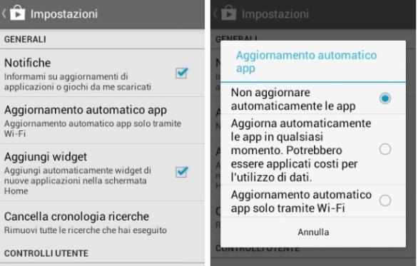 Come disabilitare gli aggiornamenti automatici delle applicazioni su Android