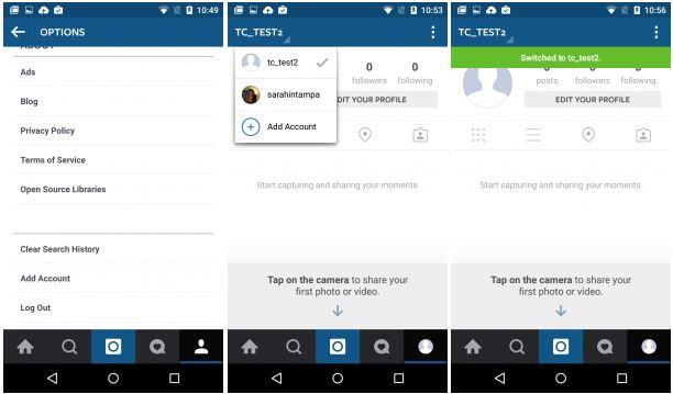 Gestire più account Instagram contemporaneamente