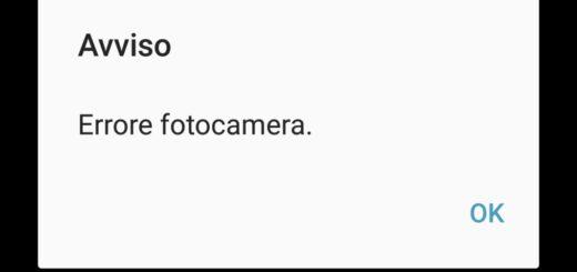 Samsung Problema Errore Fotocamera