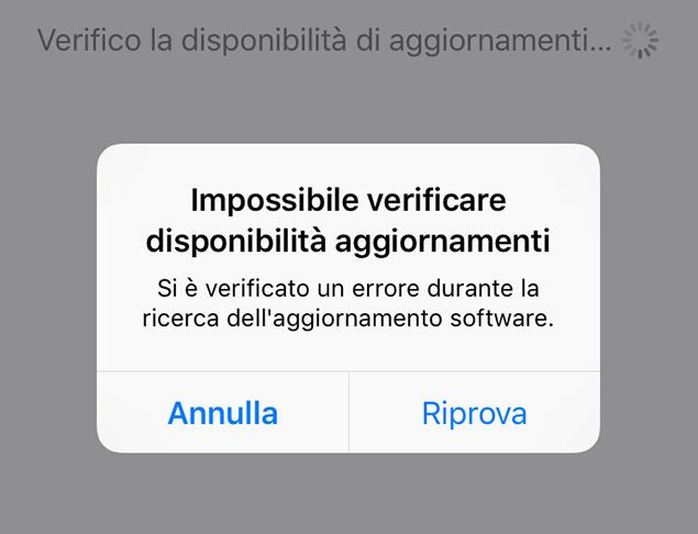 iPhone: impossibile verificare disponibilitĂ aggiornamenti? Ecco come risolvere