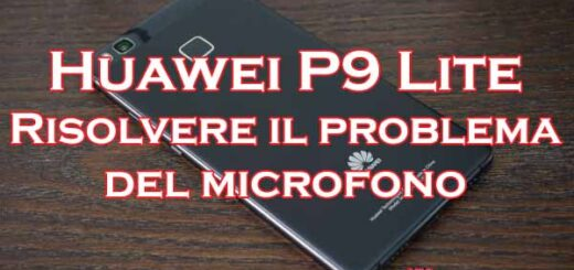 huawei p9 lite problema microfono