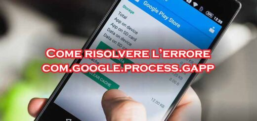 bloccato arrestato interrotto com.google.process.gapps