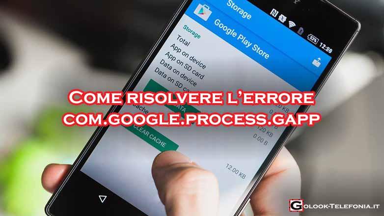 bloccato arrestato interrotto com.google.process.gapps
