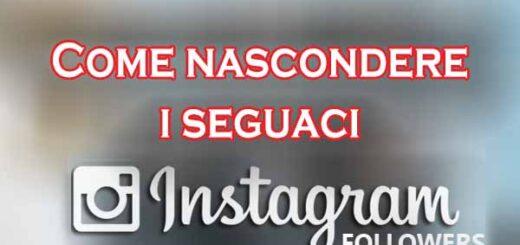 nascondere seguaci instagram