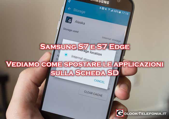 samsung s7 come spostare applicazioni su scheda sd