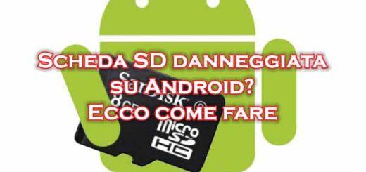 recuperare scheda sd danneggiata android