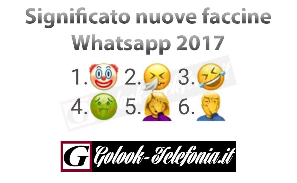 significato faccine whatsapp nuove