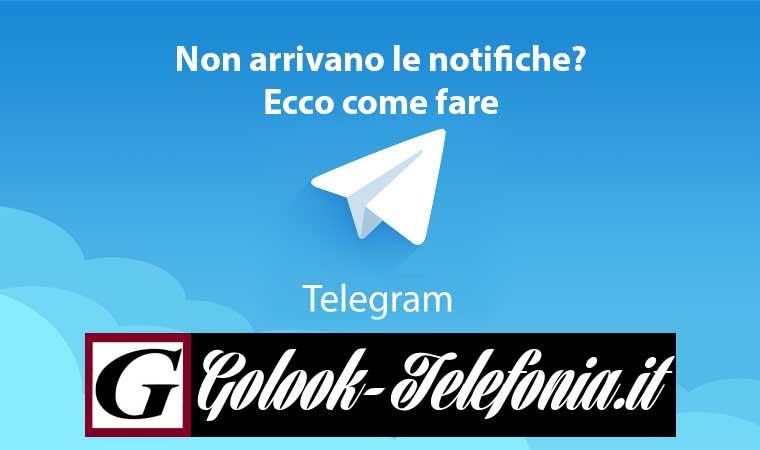 telegram non arrivano notifiche