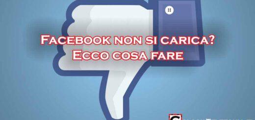 Facebook non si carica