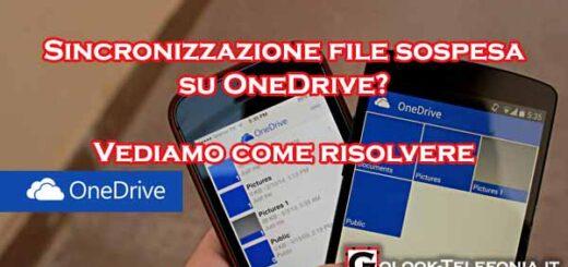 Sincronizzazione file sospesa One Drive