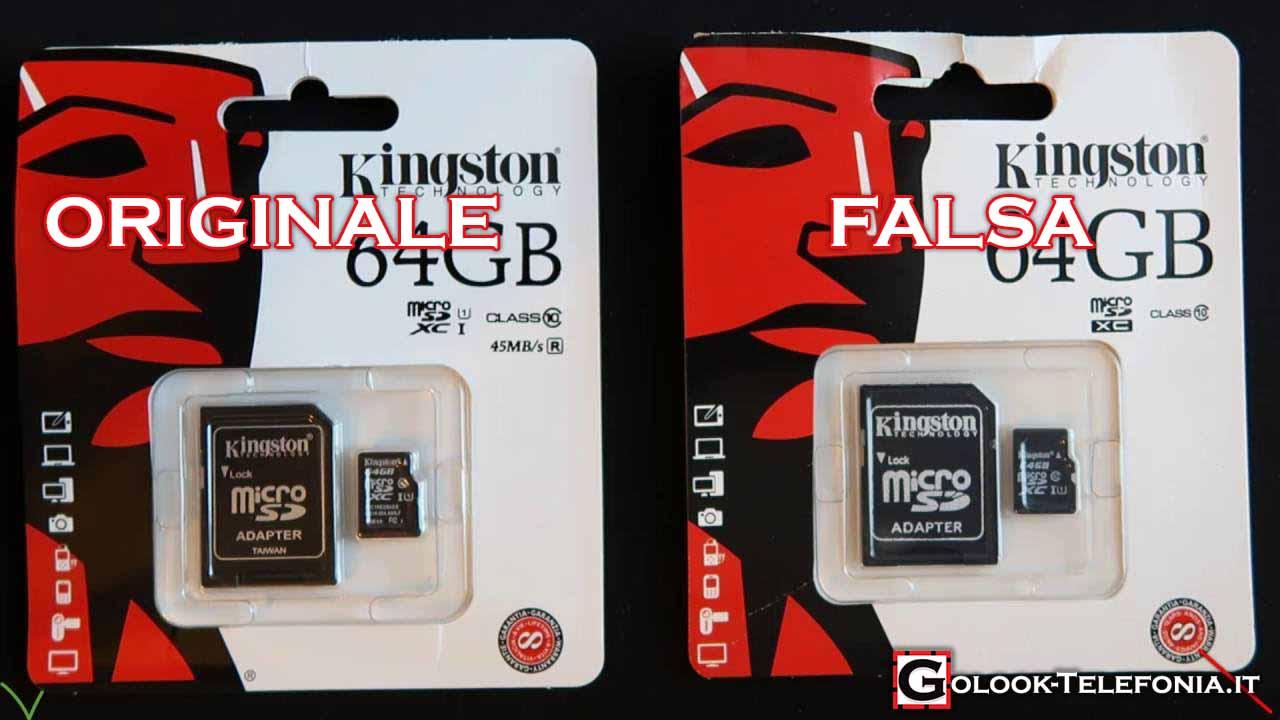 Riconoscere Micro SD Kingston Falsa