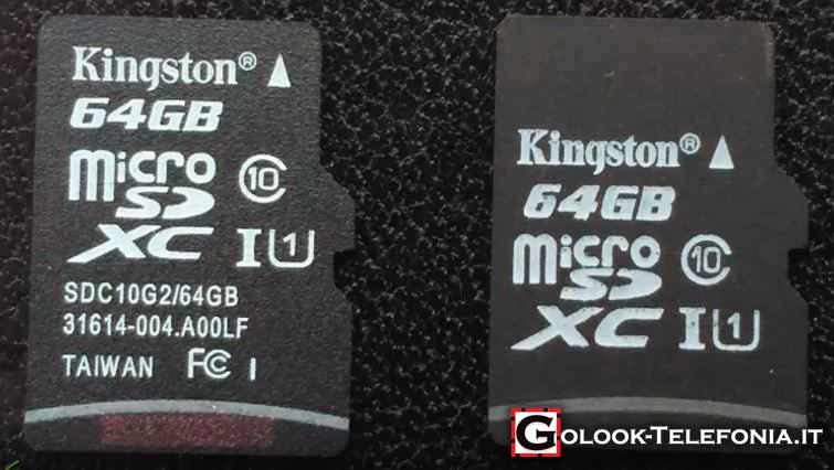Riconoscere una Micro SD falsa Kingston