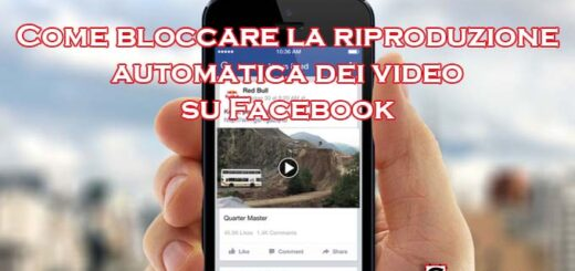 Bloccare riproduzione automatica video facebook