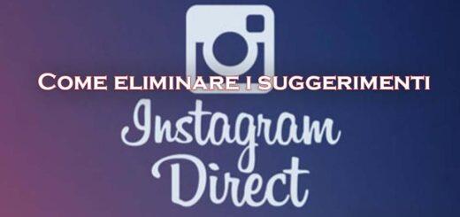 Eliminare suggerimenti Instagram Direct