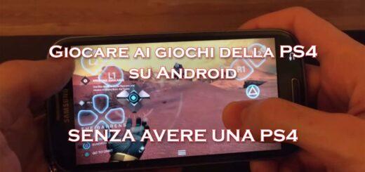 giocare giochi ps4 android