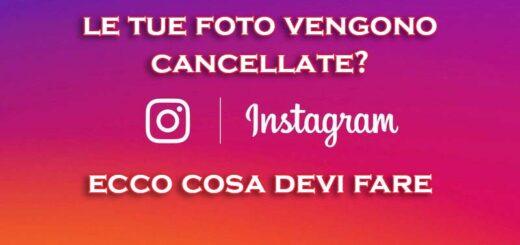 instagram mi cancella le foto