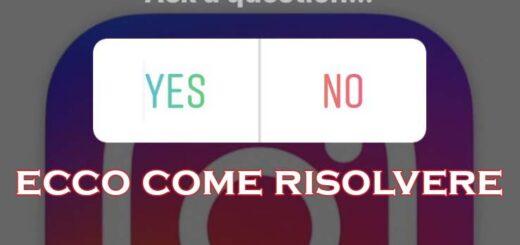Instagram non mi fa fare i sondaggi