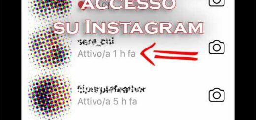 vedere ultimo accesso instagram