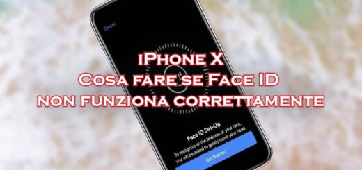 iphone x face id non funziona