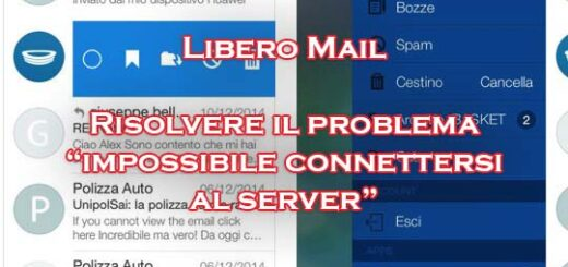 libero mail android impossibile connettersi server