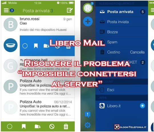 libero mail android impossibile connettersi server