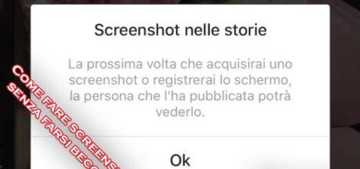 fare screenshot instagram stories senza apparire nella lista