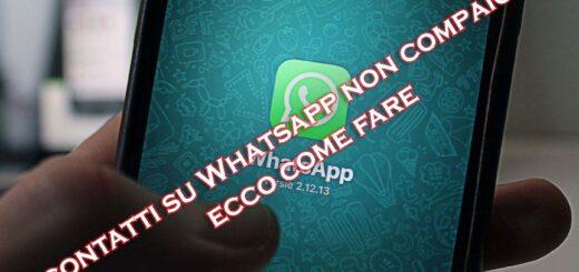 whatsapp android non vede contatti
