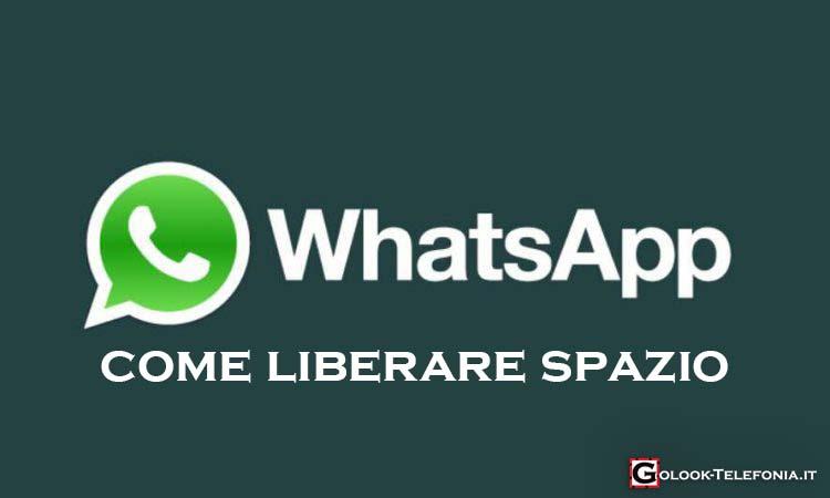 whatsapp occupa troppa memoria