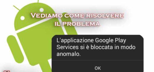 applicazione bloccata in modo anomalo android