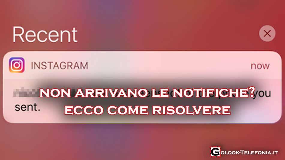 instagram non arrivano notifiche