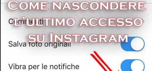 nascondere ultimo accesso instagram