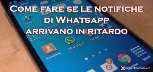 notifiche whatsapp in ritardo