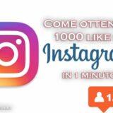 come ottenere 1000 mi piace ad una foto su instagram