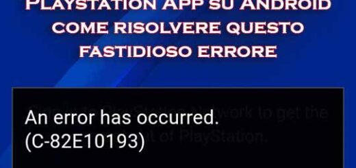playstation app si è verificato un errore C-82E10193
