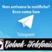 Telegram: non arrivano le notifiche? Ecco come fare